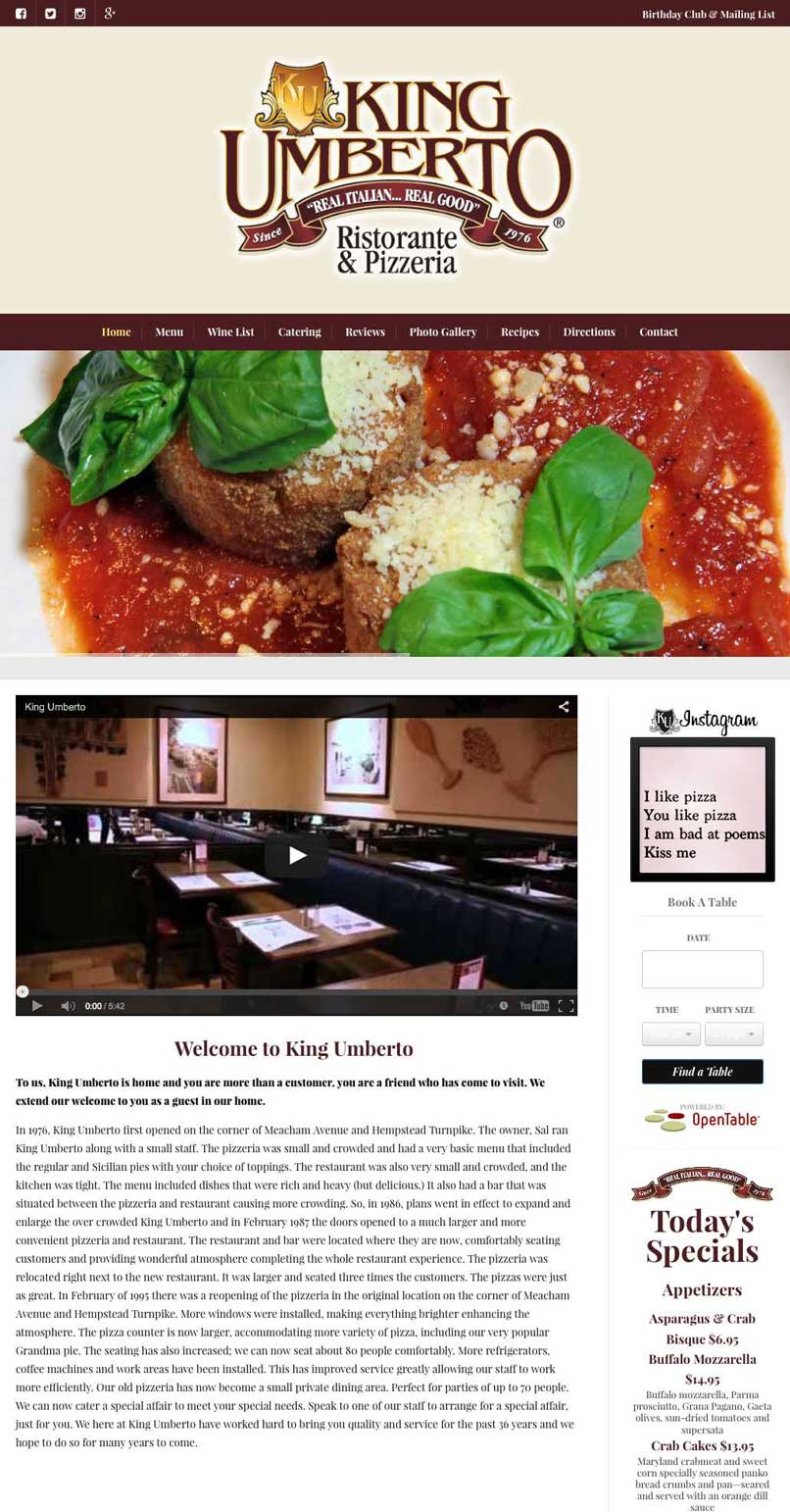 King umbertos dtp creativedtp creative recipes are also incorporated in the website this will help them come up organically in search engines without additional costs forumfinder Gallery